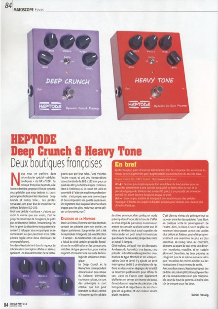Guitar Part -  Heptode Deep Crunch and Heavy Tone